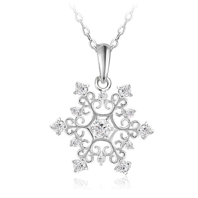 Snow Queen Necklace - A small snowflake themed necklace.