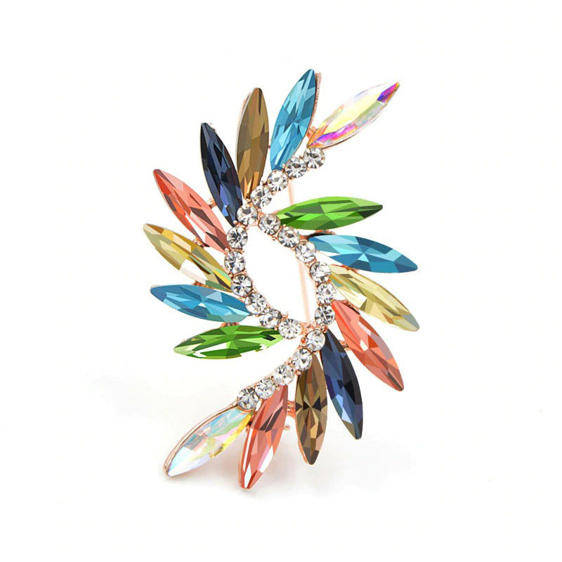 Abstract Brooch - Galactic - A delightful vibrant colourful brooch with rainbow crystals.