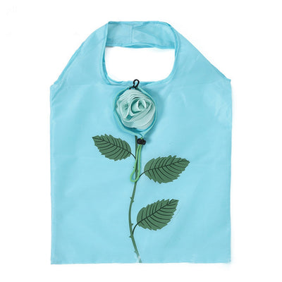 Rosebud Purse Tote - An assortment of rose themed reusable shopping bags in in bright colours.