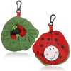 Little Lady Purse Tote - Bright red reusable shopping bag that folds down into a cute ladybug