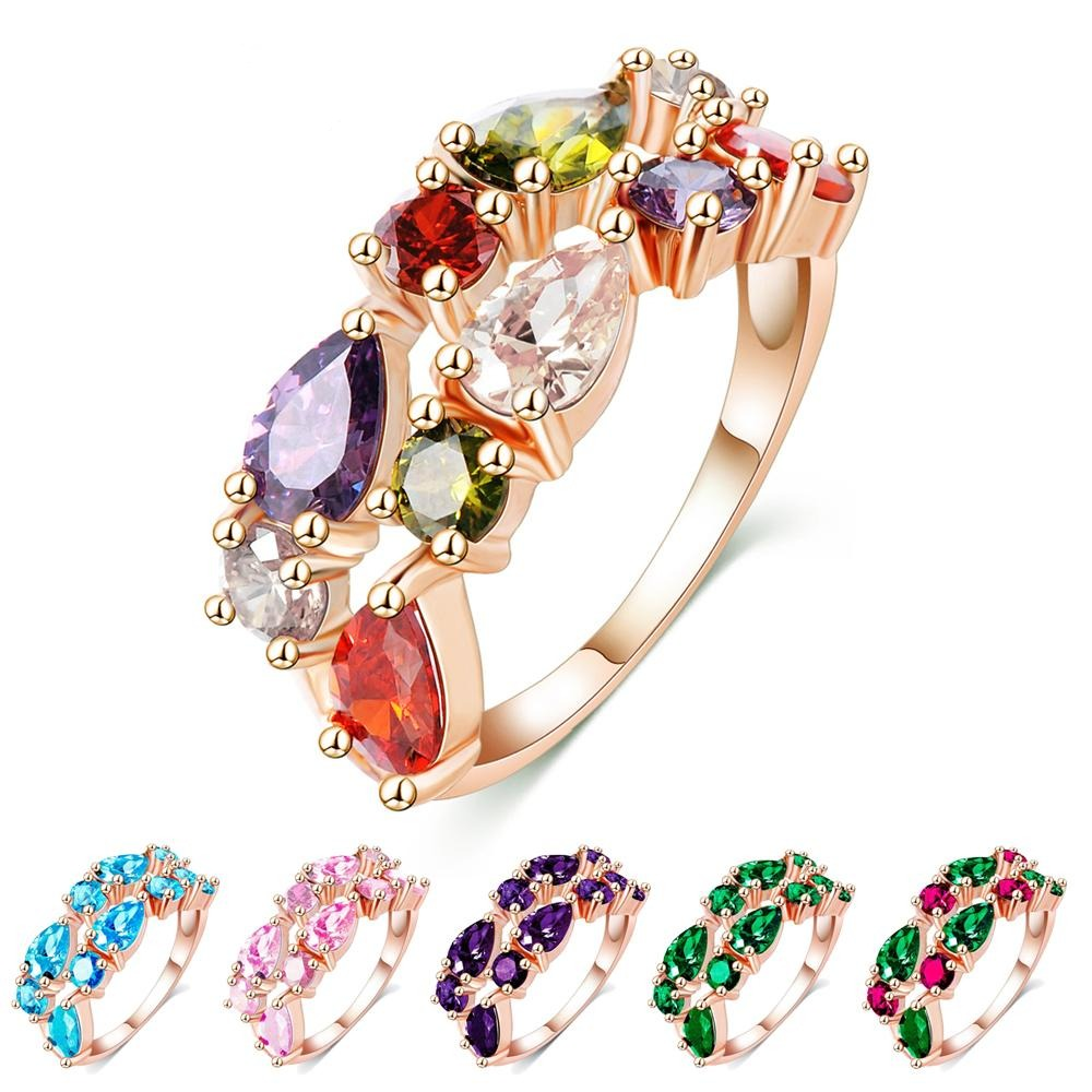 Multi-Stone Band Cocktail Ring - a lovely crystal ring in lots of beautiful colours.