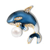 Cute Critters Brooch - Dolphin - An adorable dolphin playing with a ball.