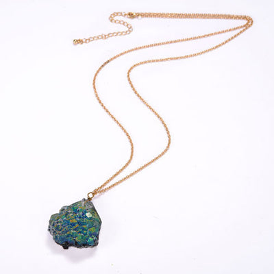Long Artificial Agate Necklace