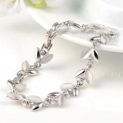 Roxi Demeter Bracelet - A beautiful floral-themed bracelet available in rose gold or platinum.