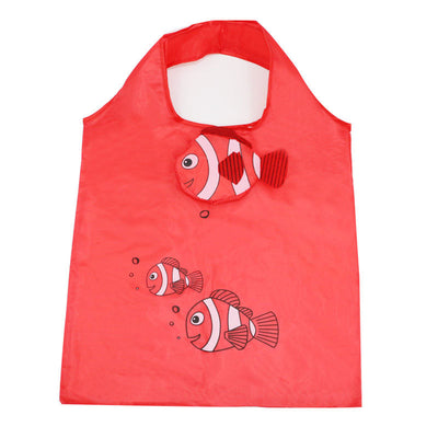 Fishy Wishy Purse Tote - An assortment of reusable shopping bags in cute fish designs.