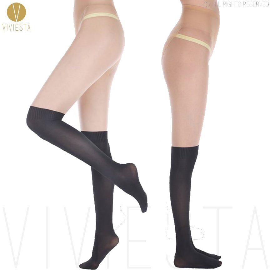 Viviesta Fashion Tights - High Quality High Stretch Mock Knee Highs