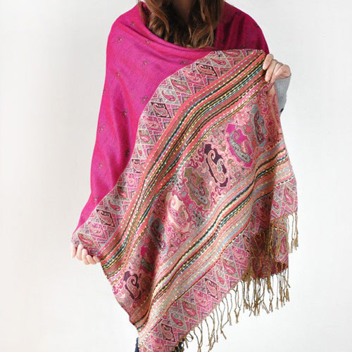 Lovely warm cotton shawls in an assortment of colours and prints.