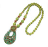 A long, lovely murano glass necklace with beads, available in lots of of lovely colours!
