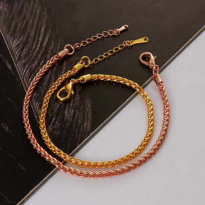 Midas Gold Rope Bracelet - A gorgeous simple bracelet available in yellow or rose gold.