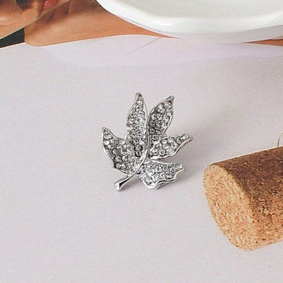 Autumn & Winter Leaf Brooch - a tiny leaf brooch available in gold or silver colour.