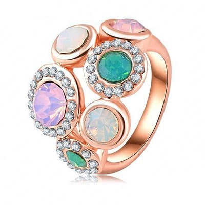 Pastel Dream Cocktail Ring - A large statement ring with vibrant resin stones.