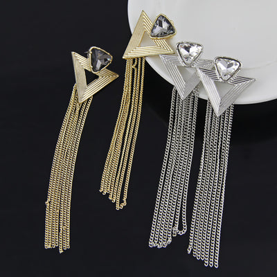 The Diva Dazzle Earrings - Long shimmering chain earrings, stunning!