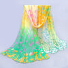 A beautiful chiffon scarf in eight different colours with a floral motif.