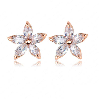 LZESHINE Starbud Earrings - Adorable star shaped stud earrings.