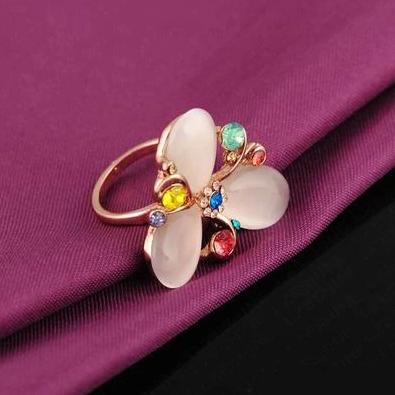 Trillian Cocktail Ring - A large statement ring with a floral theme.