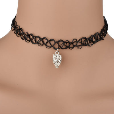 Tattoo Choker - a simple close-fitting woven rubber necklace.