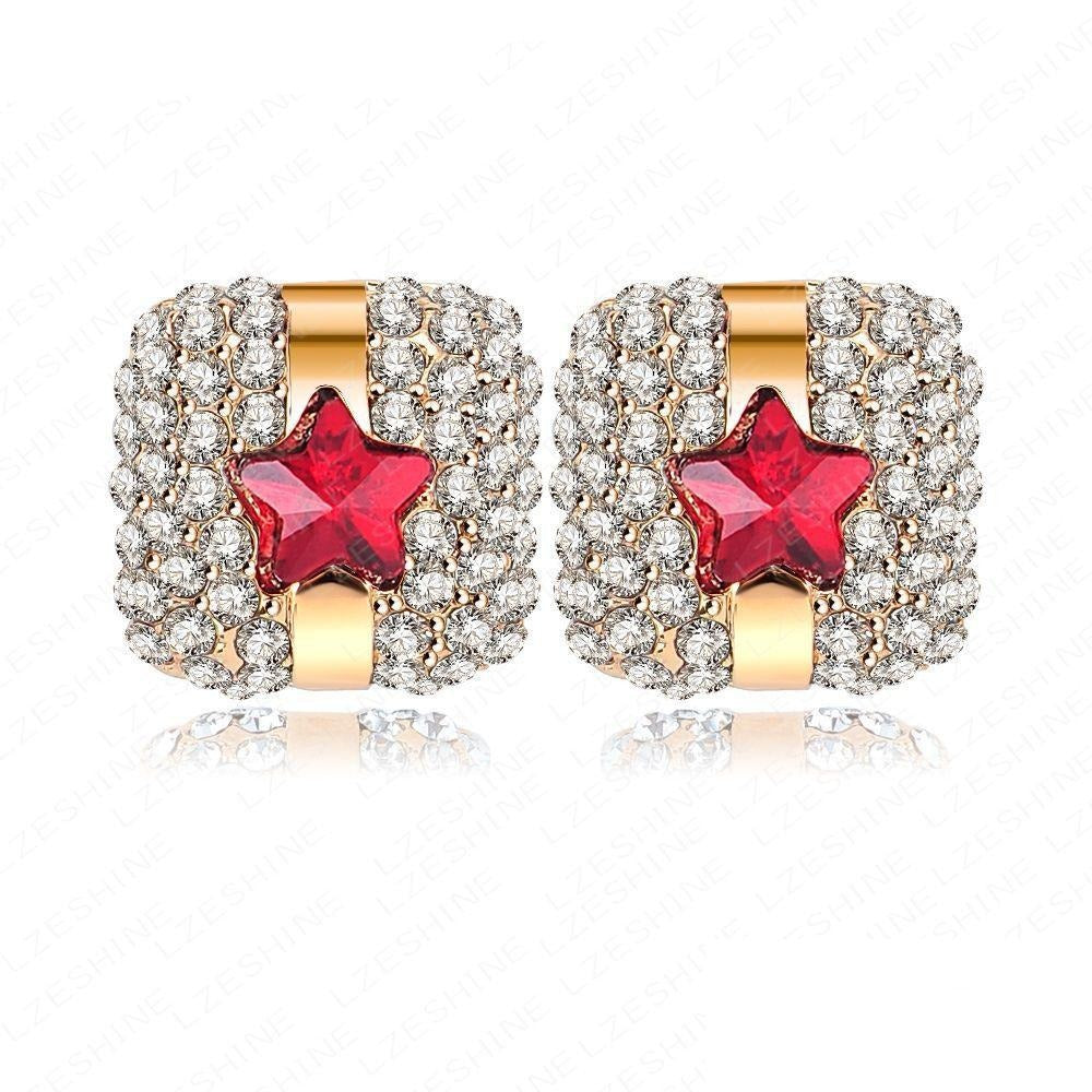 Razzle-Dazzle Earrings - Adorable little earrings that look like gifts.