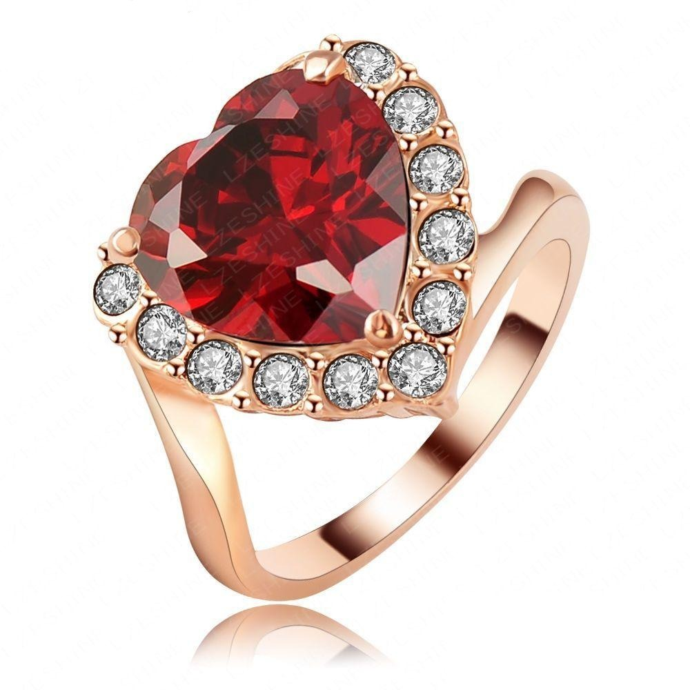 Be Mine Cocktail Ring - A statement ring with a large red crystal.