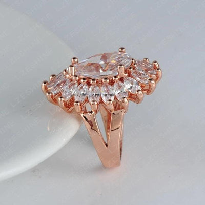 LZESHINE Be Dazzling Cocktail Ring - A stunningly statement ring with sure to catch the eye.