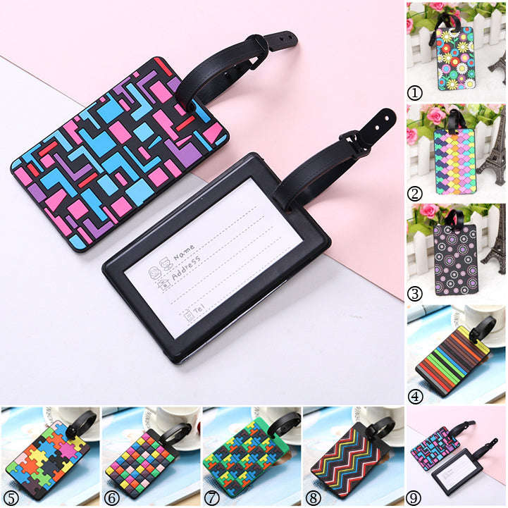 Snazzy Tags - Cute rectangular luggage tags in assorted bright fashion colours and prints