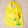 Sunflower Purse Tote - An adorable yellow reusable shopping bag with a bright floral theme