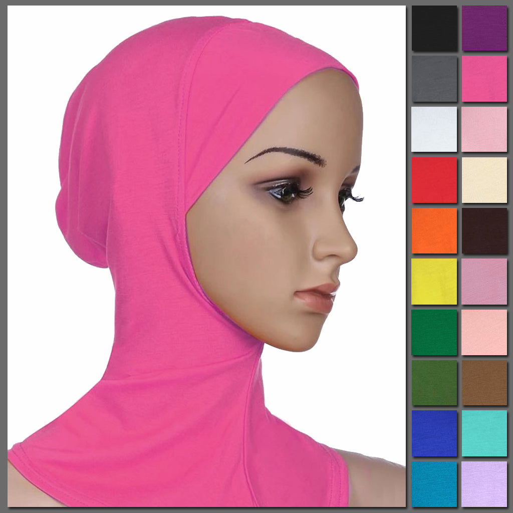 Modesty Bonnet v1 - A simple hijab under cap designed to be worn under a scarf, available in 20 colours.