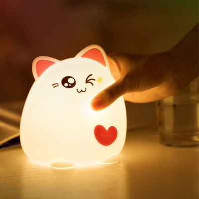Boopimals - Clara The Cat - An adorable silicon nightlight shaped like a cute, chubby, cheeky kitty cat.