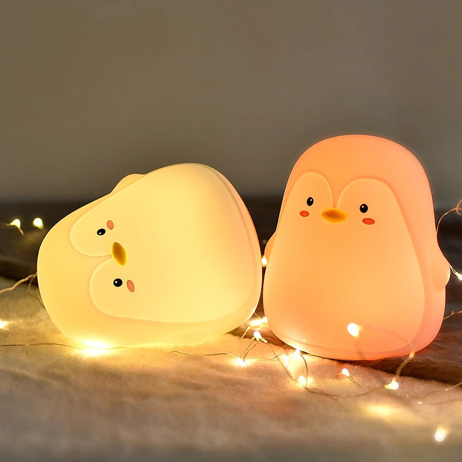 Boopimals - Penny The Penguin - An adorable silicon nightlight shaped like a cute, chubby little penguin.