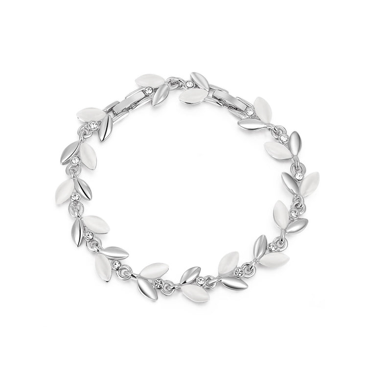 Demeter Bracelet - A beautiful floral-themed bracelet available in rose gold or platinum.