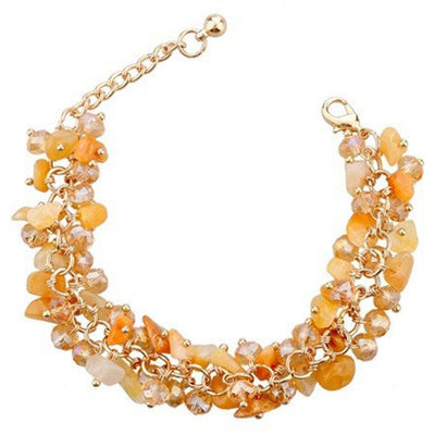 Beaded Crystal Bracelet - A cute bracelet made of natural citrine crystals and beads.