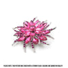 The Florist's Brooch - Dahlia - A large dark pink flower brooch.