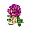 The Florist's Brooch - Peonie - A lovely dark pink floral brooch.