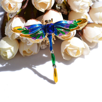 Cute Critters Brooch - Dragonfly - A cute dragonfly themed brooch in green, purple, or rainbow enamel.