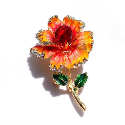 The Florist's Brooch - Primrose - A lovely flower brooch available in purple, orange, or blue-green.