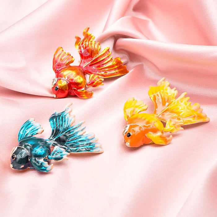 Cute Critters Brooch - Goldfish