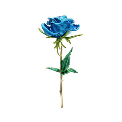 The Florist's Brooch - Long-Stem Rose I - A lovely large rose brooch available in pink, blue, red, or yellow.