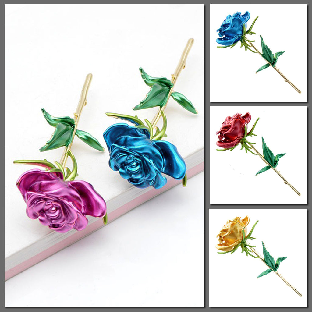 The Florist's Brooch - Long-Stem Rose I
