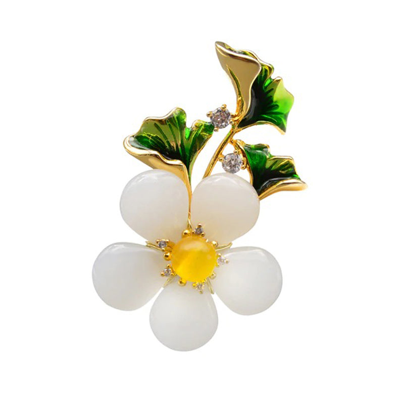 The Sylvan Stone Brooch - Curvy Daisy