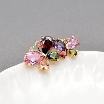 Bijoux Dual Butterfly Brooch - A lovely delicate pin made of beautiful sparkling crystals.