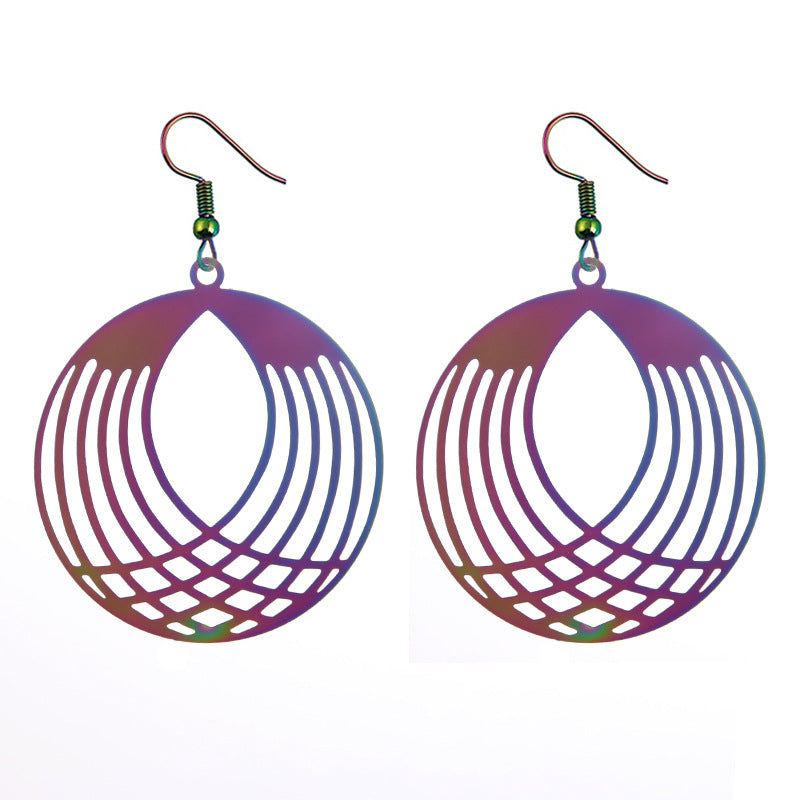 The Dazzle Collection - Mininotika - UV-treated stainless steel earrings that shine in a rainbow of colours.