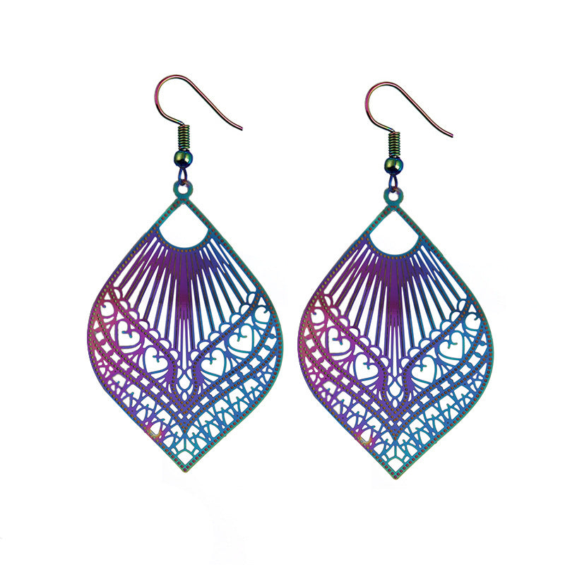 The Dazzle Collection - Lovelorn - UV-treated stainless steel earrings that shine in a rainbow of colours.