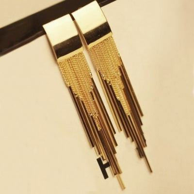 Dakari Tassel Earrings - Long stylish statement dangles, gorgeous!