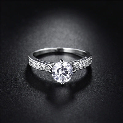 The Eternal Classic Ring - A simple, lovely imitation diamond solitaire.