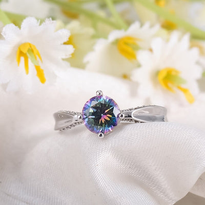 Celestial Elegance Jewellery Set - A lovely classic jewellery set with zircons and rainbow topaz.