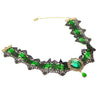The Genevieve Choker - A black lace and contrast colour choker available in red, blue, green, or purple.
