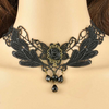 The Rosalie Choker - A black lace necklace with rosebuds.