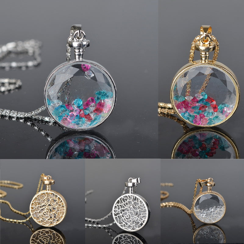 The Crystal Confetti Floating Locket - A lovely round pendant full of crystals!