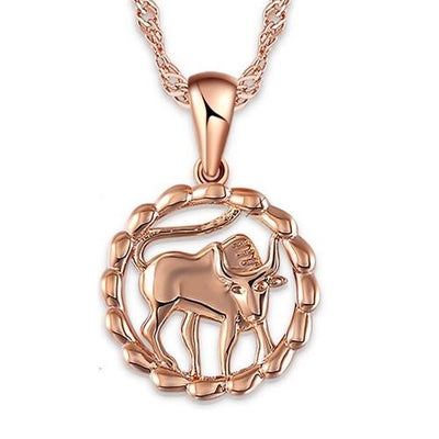 The Oracle Necklace - A beautiful delicate rose gold pendant available in your choice of zodiac signs.