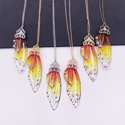 The Titania Necklace - Large fairy wing earrings available in a rainbow of beautiful colours.