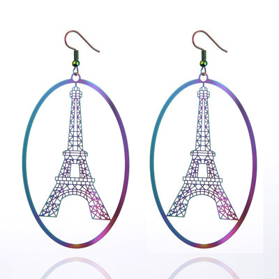 The Dazzle Collection - Antoinette - UV treated stainless steel earrings that glow in a rainbow of colours.
